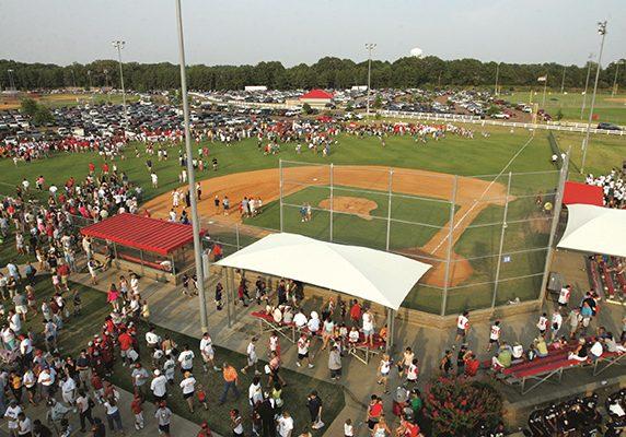 Snowden Grove Park - baseball crowd